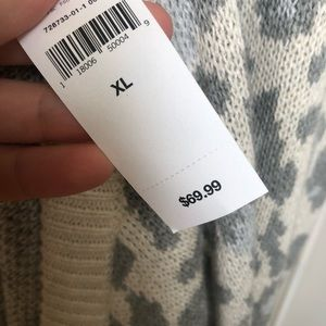 GAP Sweaters - GAP ivory frost leopard knit cardigan NWT